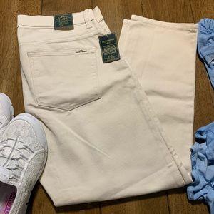 🌼 Ralph Lauren Cropped Straight Leg Jeans Khaki